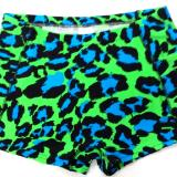 Turquoise and Lime Leopard Spankies