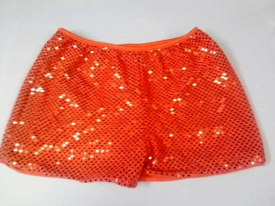 Cheerleading Metallic Sequin  Boy Cut Briefs Orange