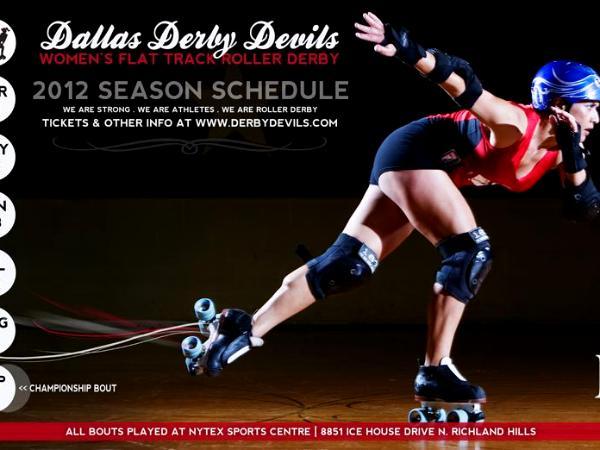 Dallas Derby Devils, Derby Shorts, Roller Derby Shorts