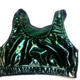 Metallic Mystique Hunter Green Sports Bra Hunter Green