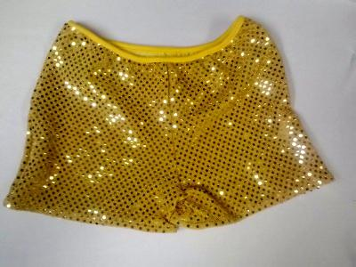 Cheerleading Metallic Sequin Boy Cut  Briefs Gold