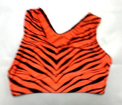 Orange Zebra Sports Bra