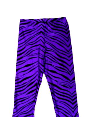 Purple Zebra Capris