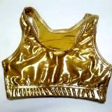 Metallic Mystique Razorback Sports Bra Gold