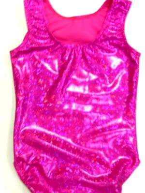 Pink Shatterglass Gymnastics and Dance Leotard