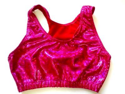 Shatter Glass Hot Pink Sports Bra