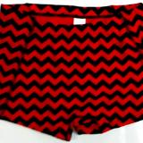 Chevron Red and Black Icupid Short