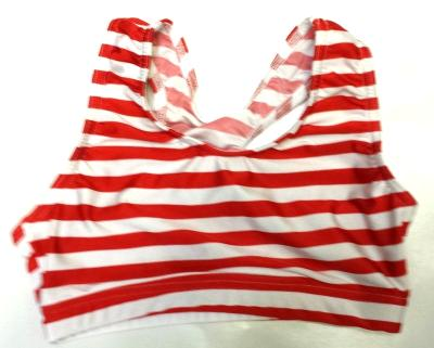 iCupid Red and White Stripe Sports Bra