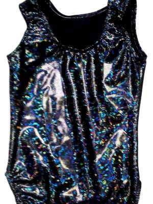 Black Shatterglass Gymnastics and Dance Leotard