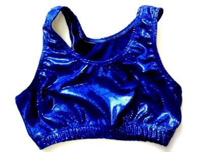 Royal Blue Shatter Glass Sports Bra