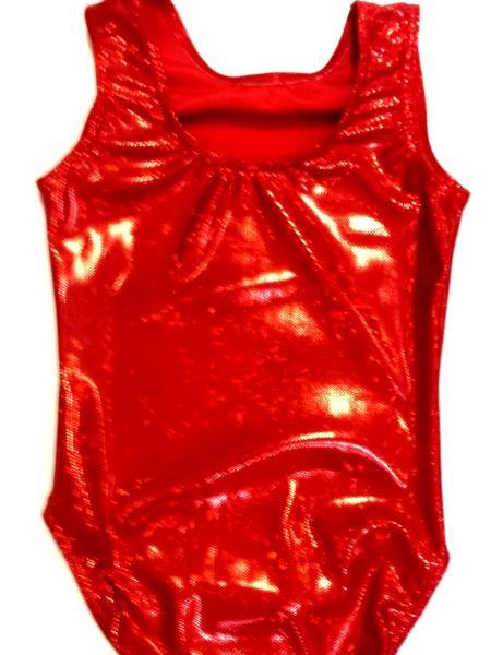 Red Shatterglass Gymnastics and Dance Leotard