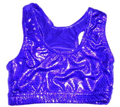 Sports Bra ULTIMATE SPARKLE Purple Metalltic Mystique & Sequins