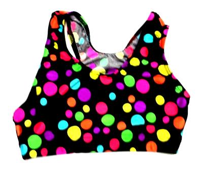 Crazy Colorful Dots Sports Bra
