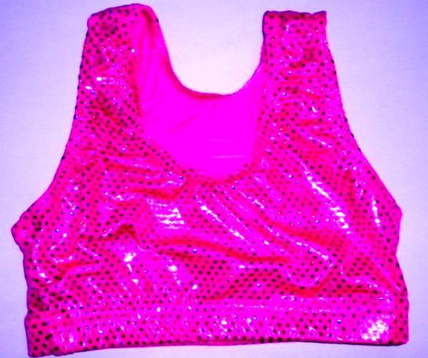 260ad8bfa5 Sports Bra ULTIMATE SPARKLE Hot Pink Metallic Mystique   Sequins