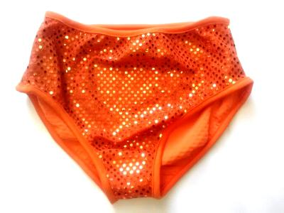 Classic Sequin Briefs Orange Spanky