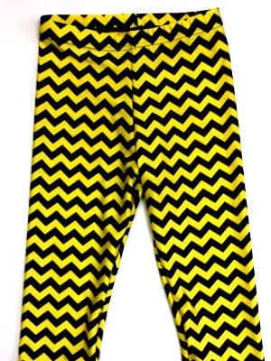 Capris Yellow and Black Chevron