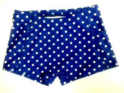 iCupid Shorts White On Royal Blue Crazy Dots