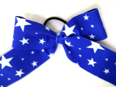Royal Blue with White Stars Bow