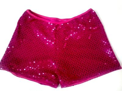 Cheerleading Metallic Sequin  Boy Cut Briefs Hot Pink