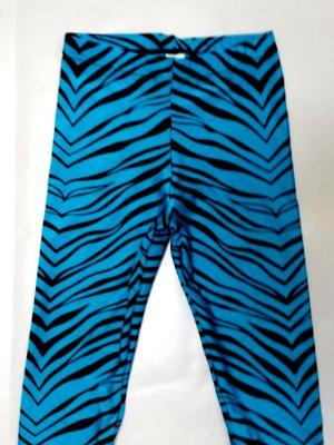 Turquoise Zebra Capris