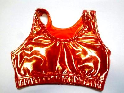 Metallic Mystique Orange Razorback Sports Bra