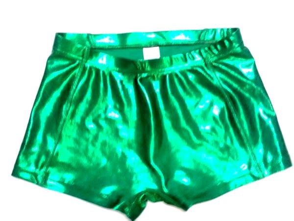 Metallic Mystique Kelly Green Cheer Boy Cut Brief