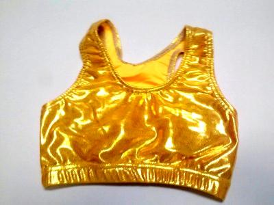 Metallic Mystique Bright Gold Sports Bra