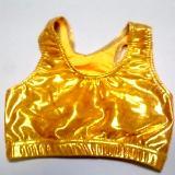 Metallic Mystique Bright Gold Sports Bra