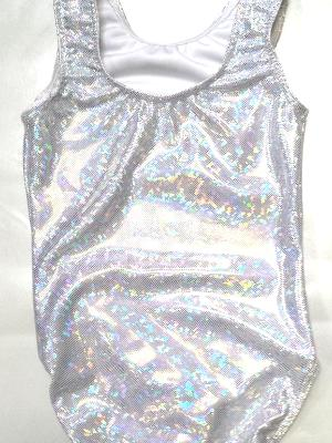 Silver Shatterglass Gymnastics and Dance Leotard