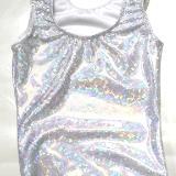 Silver Shatterglass Gymnastics and Dance Leotard