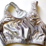 Metallic Mystique Silver Sports Bra