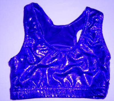 Sports Bra ULTIMATE SPARKLE Royal Blue Metallic Mystique & Sequins
