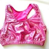 Bubble Gum Baby Pink Mystique Metallic Sports Bra