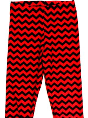 Red/Black Chevron Capri Chevron