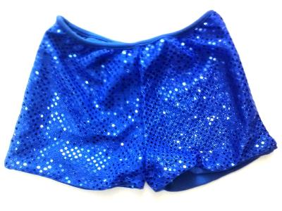 ROYAL BLUE Cheerleading Metallic Sequin Boy Cut Briefs