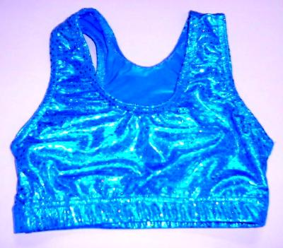 Sports Bra ULTIMATE SPARKLE Turquoise Metallic Mystique & Sequins