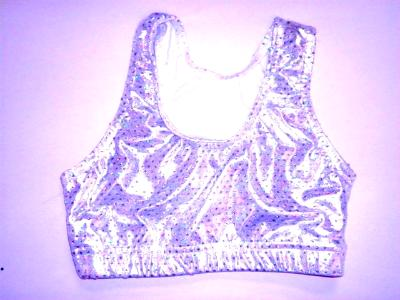 Sports Bra ULTIMATE SPARKLE Silver Metallic Mystique & Sequins