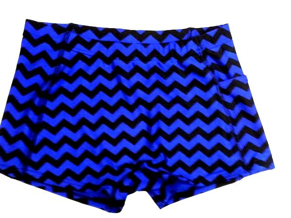 Chevron Royal and Black Icupid Short