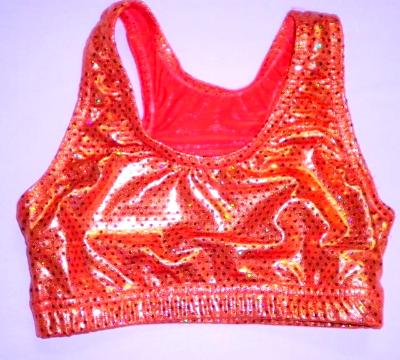 Sports Bra ULTIMATE SPARKLE Orange Metallic Mystique & Sequins