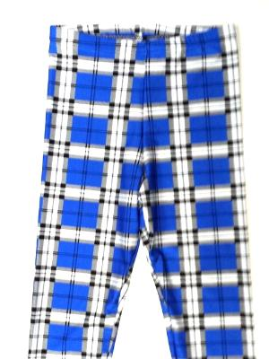 Blue Plaid Capris