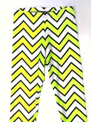 Neon Yellow Chevron Capris