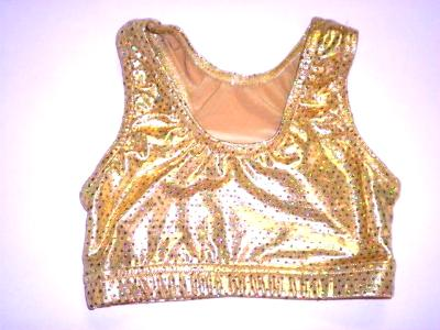 Sports Bra ULTIMATE SPARKLE Gold Metallic Mystique & Sequins