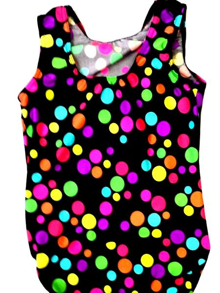 Crazy Dots Dance and Gymnastic Leotard.