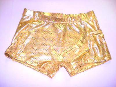 ULTIMATE SPARKLE Gold Metallic Mystique & Sequins Briefs