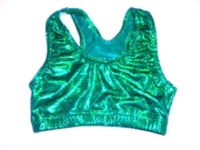 Sports Bra ULTIMATE SPARKLE Kelly Green Metallic Mystique & Sequins