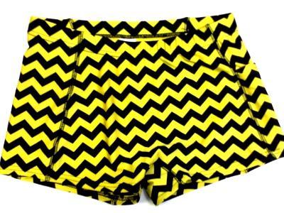Chevron Yellow and Black Icupid Short