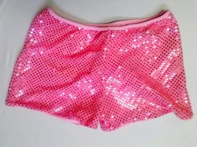 Cheerleading Metallic Sequin Boy Cut Briefs Baby Pink